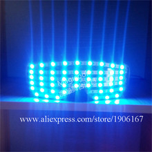Blue Led Colorful Luminous Party glasses LED Growing Lighting