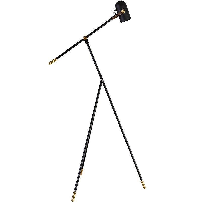 Nordic adjustable LED floor lamp Modern living room triangle long arm stand light bedside indoor floor lighting E27 3W LED lamp