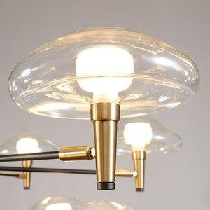 Image 5 - Postmoderne Led Kroonluchter Verlichting Ijzer Glazen Eettafel Deco Armaturen Woonkamer Hanger Lampen Slaapkamer Opknoping Lichten