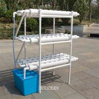 New Pipeline Soilless Cultivation Planting Equipment Set 3 layer 12 tube 108 hole Balcony Hydroponic Vegetable Planting Shelf