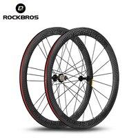 ROCKBROS 700C Carbon Road Bike Wheels 38mm 55mm Width 25mm 12K UD Matte T700 Powerway R13 Hub Carbon Fiber Bicycle Wheelset
