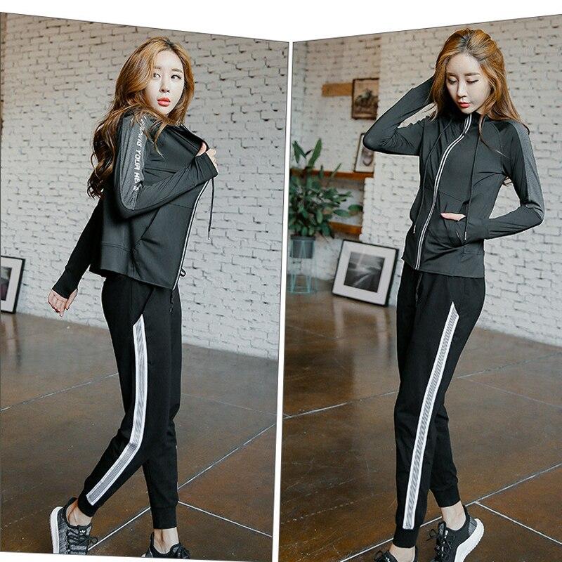 hot 3 piece set 2018 New women clothing for fitness sportswear women leggings for fitnes ...