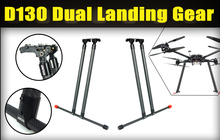 Foxtech D130 carbon fiber super load-bearing 30KG automatic landing gear