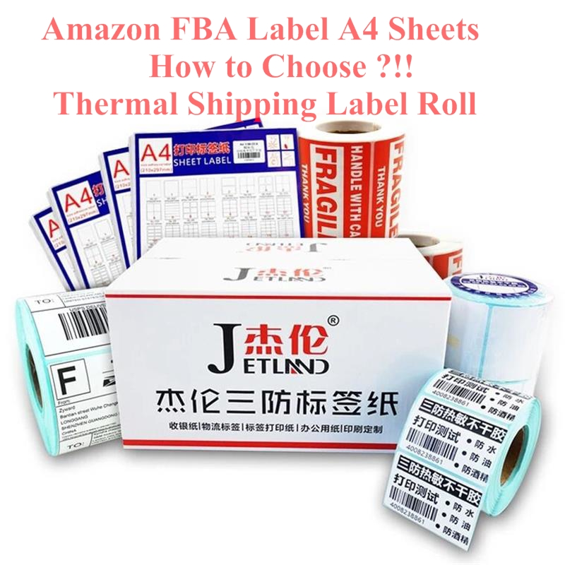 US $15 0 |Amazon FBA Label Matt a4 SKU / UPC barcode Printer Labels 50  Sheets Thermal Shipping label 4x6 4XL Mailing Address Printing-in  Stationery