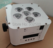 wholesale NEW 6*6in1 RGBWA+UV remote/wifi control battery powered wireless dmx led stage flat par light 8pcs/fly case
