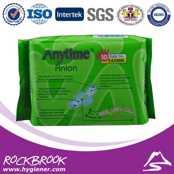 Produto de Higiene Feminina higiene feminina Ânion bambu algodão Feature : Super Absorbent