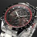 Hot CURREN relógios homens marca de luxo 8149 relógio reloj relogio masculino militar relógio de quartzo homens de aço inoxidável completa relógio de pulso