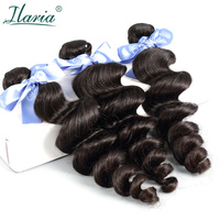 ILARIA HAIR Malaysian Loose Wave Virgin Hair Bundles Deal 100% Malaysian Human Hair Weave Bundles Natural Color 3 Top Quality