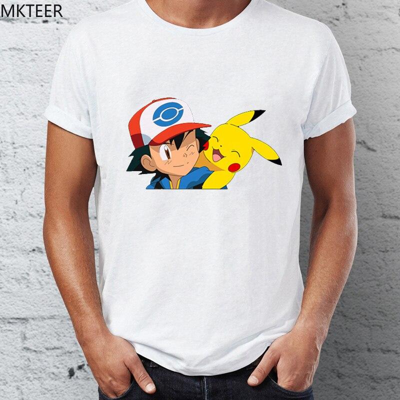 2019 New Products T Shirt Japanese Pokemon Unisex T-shirt Summer Grunge Short-sleeved Men's Tshirt Funny Camiseta Masculina