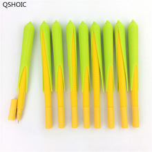 30Pcs/Set 0.5mm Cute Silicone Corn Gel Pen Black Ink Pens Stationery Office School Supplies Gift