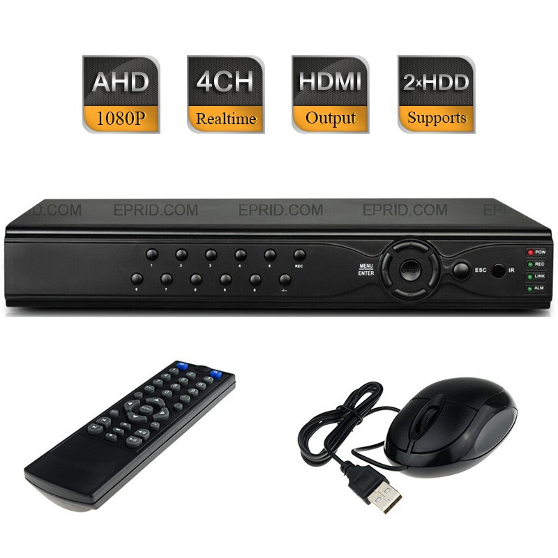CCTV Security H.264 4CH AHD-H Full HD 1080P Realtime Recorder Hybrid DVR NVR HDMI security 4ch ahd m dvr 8ch realtime 1080p nvr video recorder multi mode