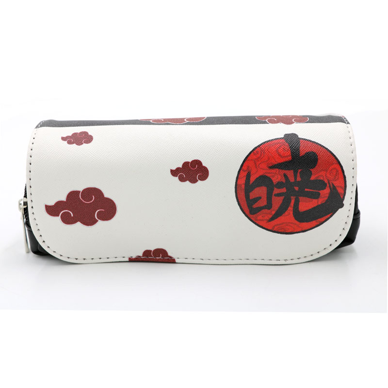 Naruto Anime Colorful Akatsuki Pencil Case Bag Pain Student Stationery Pouch Uchiha Itachi Cosmetic Travel Konan Makeup Bag