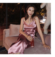 Ladies Satin Slip Shift Dress Sexy Backless Midi Party Evening Special Occasion Elegant Midi Vestidos Dresses