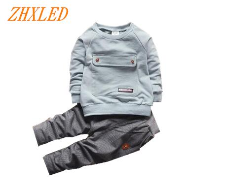 2017 spring and autumn toddler baby suit long-sleeved suit T-shirt + pants sportswear boy girls children`s clothing brand suit