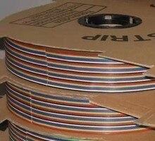 Cabo de fita de 20 vias, cor plana, cabo de fita do arco íris, cabo de fita 20p, pitada 10, 1.27mm m/lote em estoque