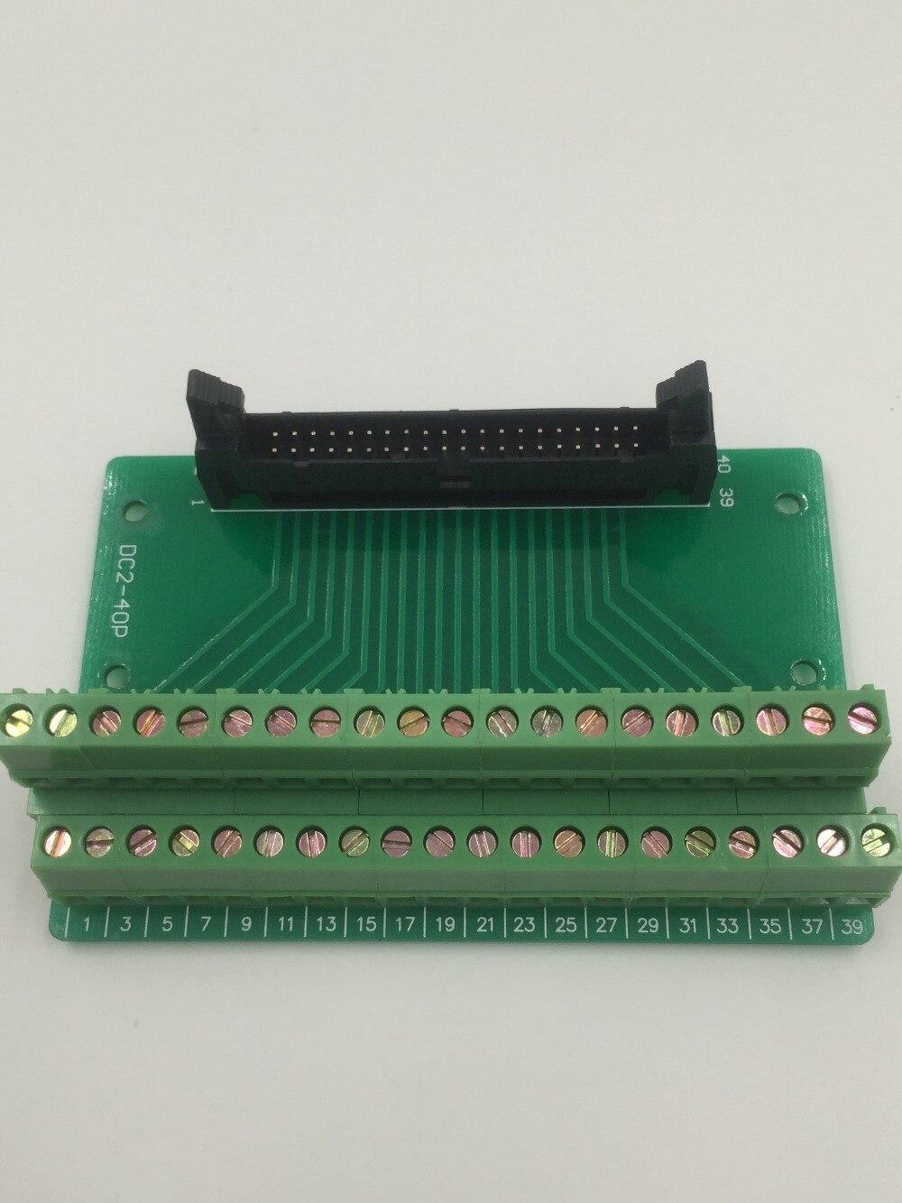 Hot Factory Direct Wholesale IDC40 male plug 40pin port header Terminal Breakout PCB Board block 2 row screw
