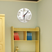 Free Shipping 1Piece Sex Position Clock / 24Hours Sex Novelty Wall Clock saat clock wall alarm clock decorations