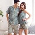 Las Mujeres pijamas de Verano Amor ropa de Dormir Pijamas Para Hombre 100% Algodón Polka Dot Sexy Ladies Chaleco Salón Pareja Conjunto de Pijama de Las Mujeres XXL