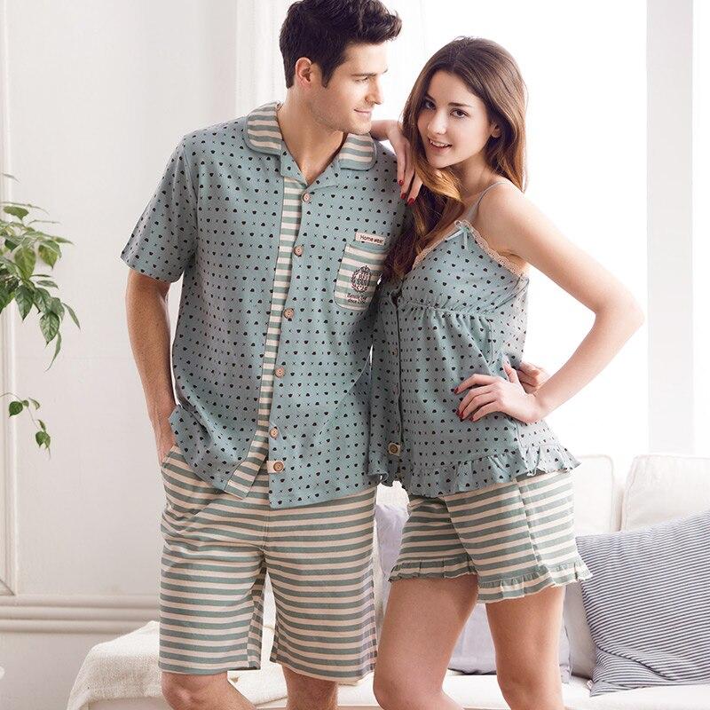 Pajamas Women Summer Love Sleepwear Mens Pyjamas 100