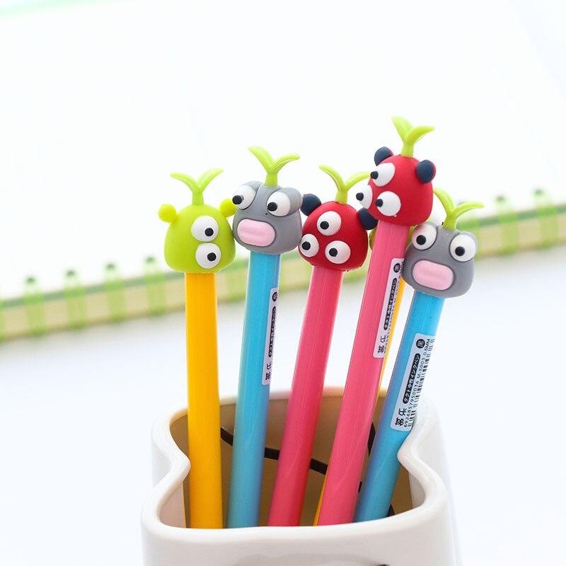 Gel-Ink Pen 5Pc/Set Cute Aliens Novelty Pens  Funny Pen Set Planner Accessories Stationery Back to School Supplies Gift Ideas