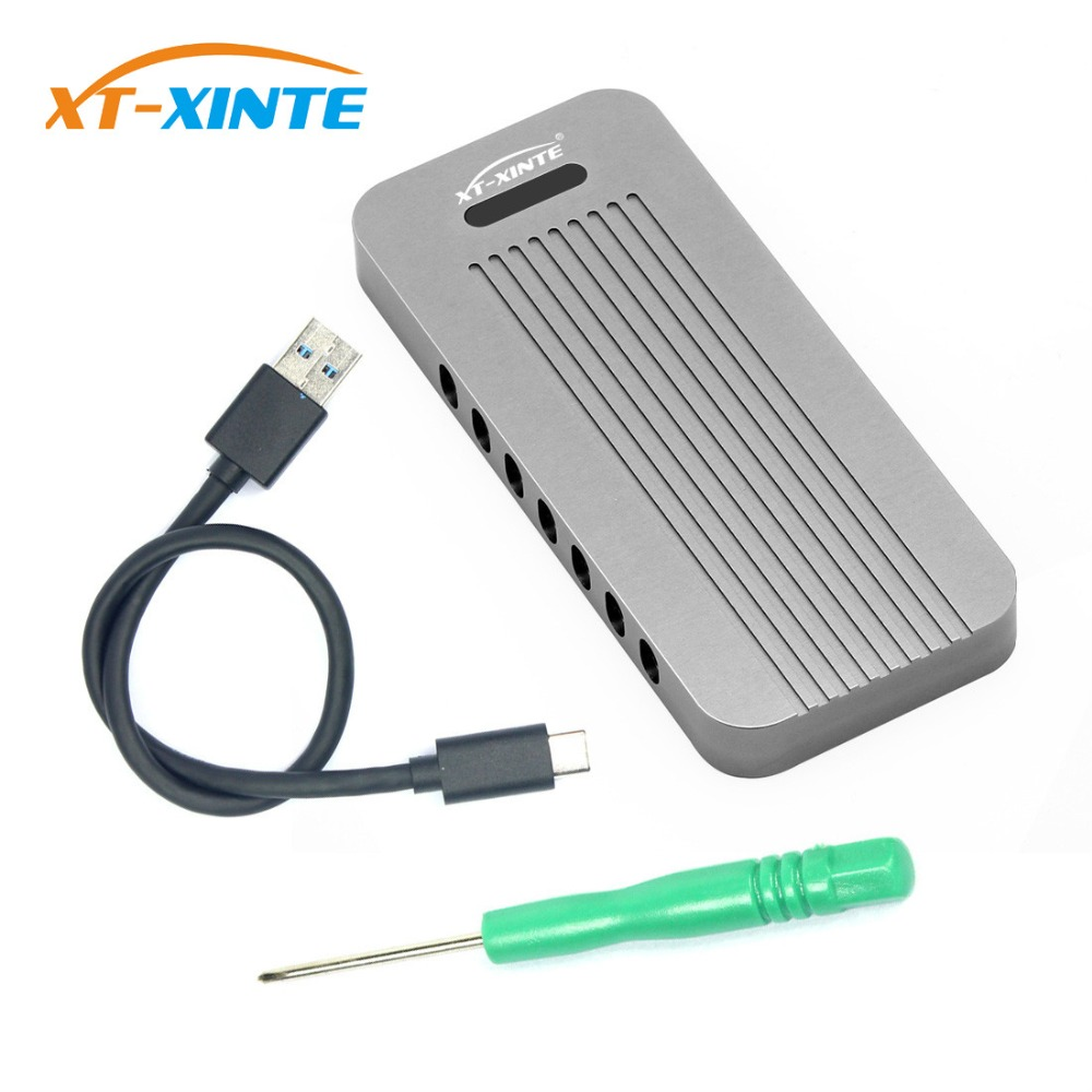 Aluminum Alloy NVMe PCIE USB3.1 HDD Enclosure M.2 To USB SSD Hard Disk Drive Case Type C 3.1 M KEY Connector HDD Box For Desktop