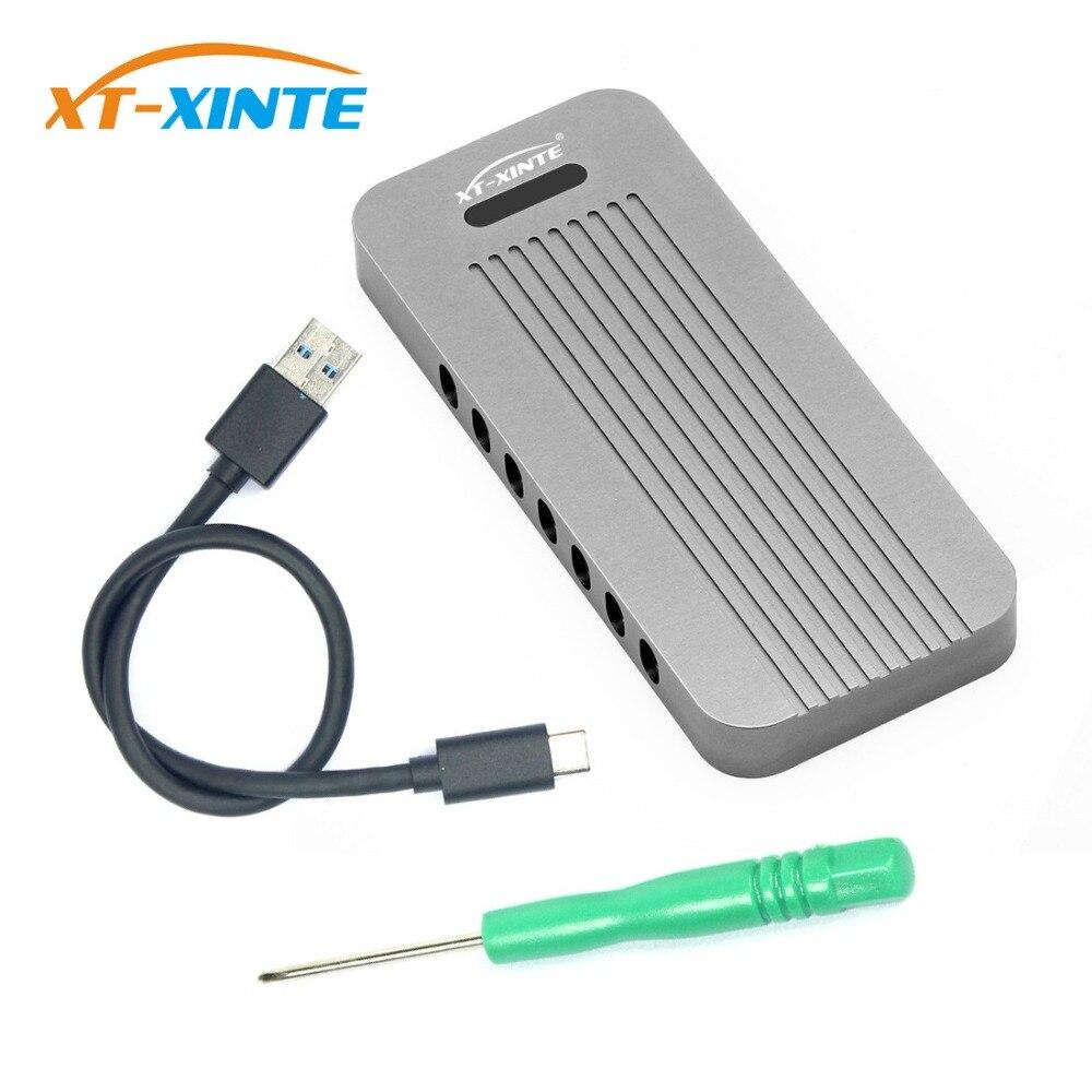 Boîtier en alliage d'aluminium NVMe PCIE USB3.1 HDD boîtier M.2 à USB disque dur SSD type de boîtier C 3.1 M connecteur de clé boîtier HDD pour bureau