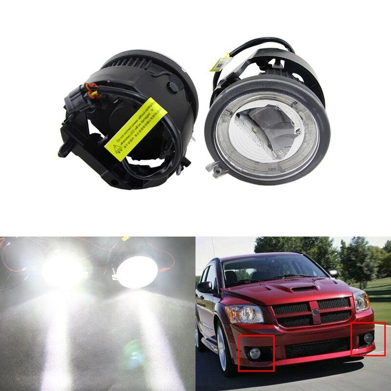 Auto Car Front Fog Light Assembly W/ Daytime Running DRL Guide Halo Ring For Chrysler For Dodge Caliber Nitro Grand Caravan chrysler grand voyager с пробегом москва