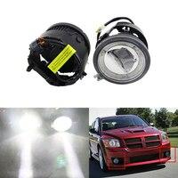 Auto Car Front Fog Light Assembly W/ Daytime Running DRL Guide Halo Ring For Chrysler For Dodge Caliber Nitro Grand Caravan