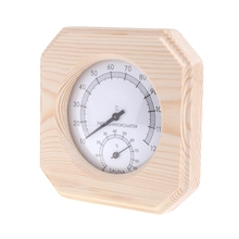 Wood Thermometer Hygrometer Hygrothermograph Temperature Instrument For Sauna Room цена