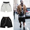 Para hombre de Alta Moda de La Calle Gota Entrepierna Harem Pantalones Cortos Kanye West Los Hombres sueltos Pantalones Cortos Con Cordón Bolsillo Con Cremallera Pantalones Cortos Para hombres
