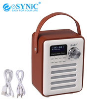 eSYNiC V4.2 DAB Bluetooth Speaker + USB And AUX Cable Digital FM Radio Support Alarm Clock Rechargable battery Subwoofer Speaker