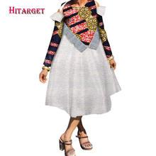 Африканские платья для женщин с круглым вырезом платье до середины