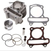 Big Bore Kit Cylinder Piston Rings Fit For GY6 50cc 60cc 100cc 4 Stroke Scooter Moped ATV 50cc 40m 12mm cylinder kit 1pe40qmb 1e40qmb 2 stroke minarelli engine