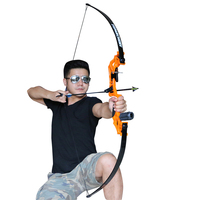 Toparchery Takedown Bow Hunting Bow Metal Riser 30 40lbs Orange Right Handed