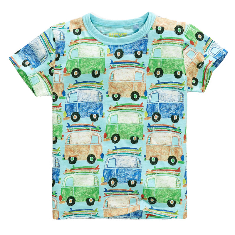 Excellent Boys T shirt Cartoon Car 2018 Cotton Tops O Neck Kids Short Sleeve Colorful Boys Clothes Baby Children Summer Clothing