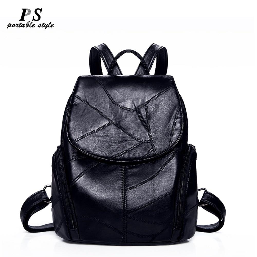 Women Backpack Geniune Leather Backpack Women 2019 Fashion Hotsale School Bags For Teenagers Fashion Backpacks For Teenage Girl