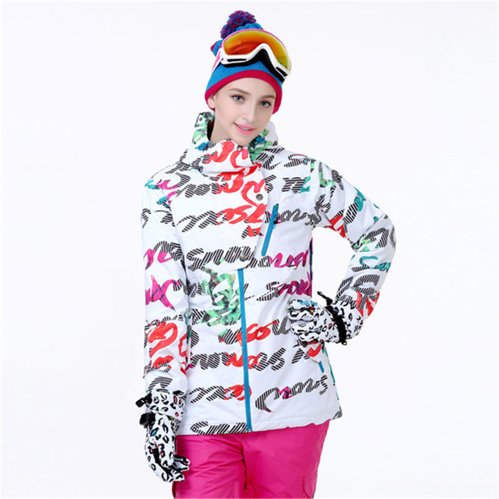 Womens snow jacket colorful jacket windproof waterproof snow ski jacket warm thick jacket for girls