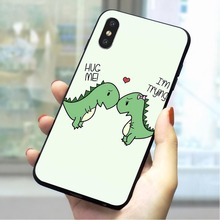Dinosaur Mouth Soft TPU Cover for iPhone 6S Plus Print Phone Case for iPhone 7 8 plus X Xs Max XR 5 5s se 6 Cases Back цена и фото