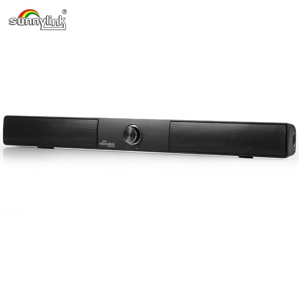 Sunnylink Maxxbass DSP Subwoofer TV barre de son haut-parleur sans fil Mini Bluetooth haut-parleur HiFi stéréo barre de son avec entrées BT + AUX