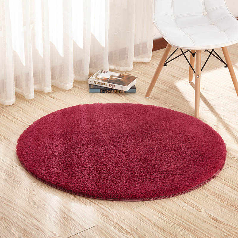 9 Color Home Berber Fleece Carpets Round Thicken Soft Rugs For living Room Kilim Aera Rugs Kids Bedroom Yoga Mats Doormats Floor
