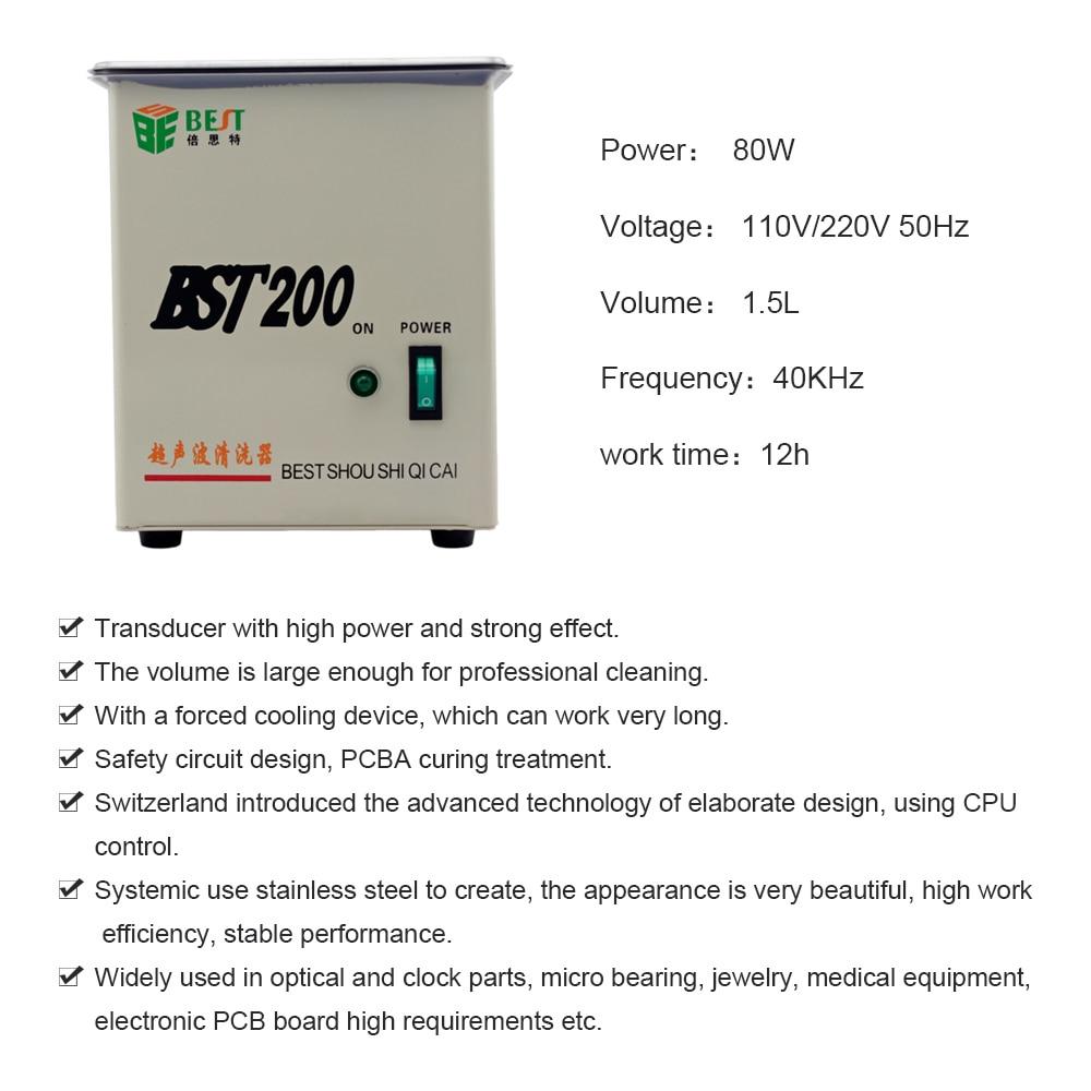 Professionele Multi functionele Ultrasone Reiniger voor Sieraden Horloge Bril Precisie Elektronica - 3