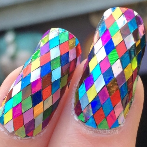 1 Box 2mm Rhombus Sheet Sparkling Nail Art Sequins Decoration Manicure Glitter Nails Art Tools Colorful Nail Art Decors