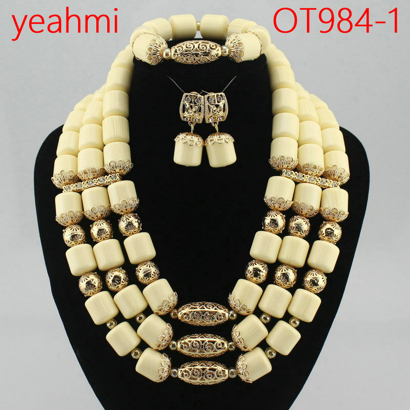 Fashion 2018 Women Necklaces African Beads Jewelry Sets Nigerian Wedding Bridal Indian Beads Jewelry Sets Crystal Beads OT984-1 fashion nigerian wedding bridal indian beads jewelry set african beads crystal beads balls jewelry sets hd3748