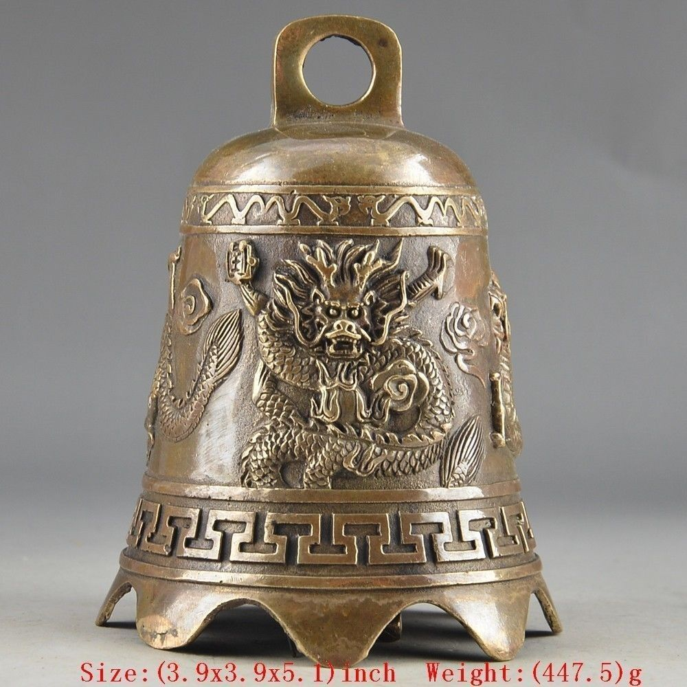 Home Office Storage Well-Educated Copper Brass Chinese Crafts Asian Exquisite Chinese Tibetan Copper Buddhism Exorcism Bell