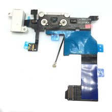 Original Charging Dock Flex Cable USB Charger Port Audio Jack Headphone Connector with MIC Flex for iPhone 5 Replacement