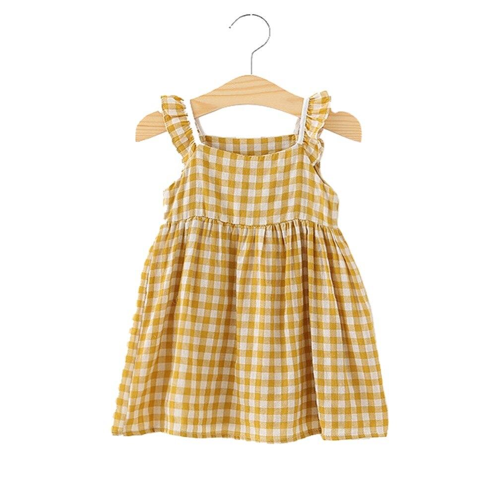162f10f71 Summer Children Dress Plaid Girls Dresses Sleeveless Cotton Kids Dresses  for Girls Fashion Children Sundress Girls