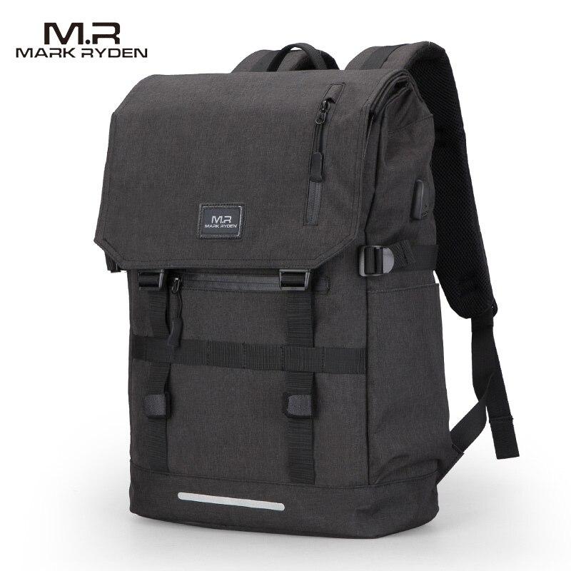 Mark Ryden Large Capacity 15.6 Inch Laptop Bag Man USB Design Backpack Bag Black Backpack Women School Bags Mochila Masculina
