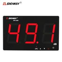 SNDWAY SW-525B Som Digital Medidor de Nível 30 ~ 130dB Decibel Medidor de LCD de 9.6 Polegadas Home Da Parede De Suspensão Tipo de Medição de Ruído Detector