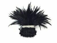 Schöne federn gefärbt schwarz 4-6 zoll, für ornament, kleidung, ohrringe, kopf schnalle hut etc..