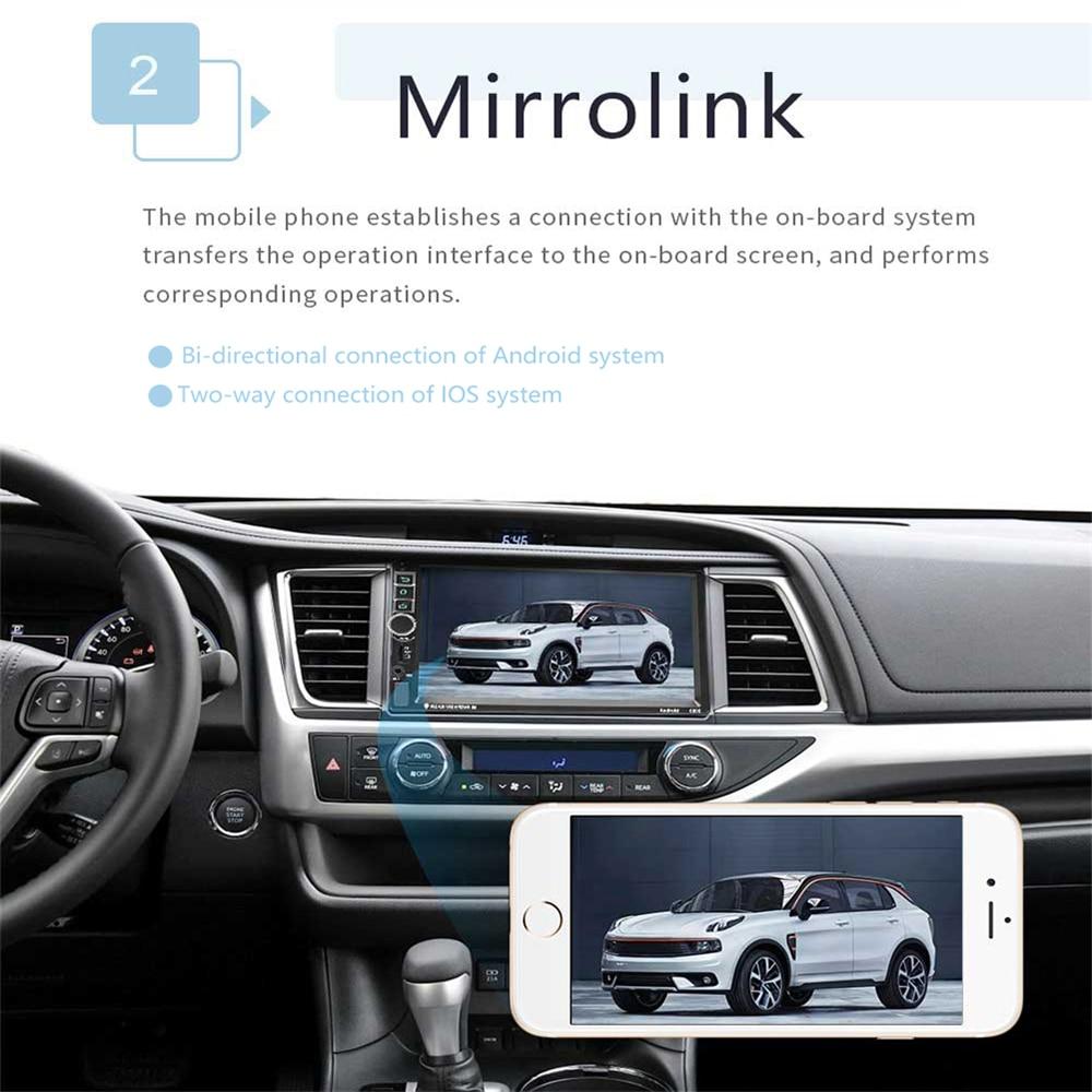 Podofo 2din Android Auto Radio GPS 7 zoll 2 din Radio Kassette Recorder Bluetooth autoradio MP5 Player Unterstützung Rückansicht kamera